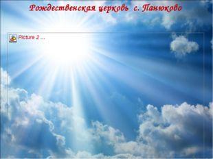 Рождественская церковь с. Панюково