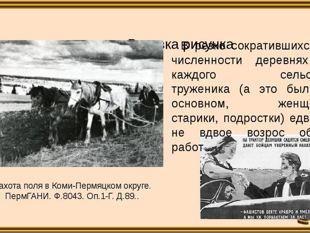 Пахота поля в Коми-Пермяцком округе. ПермГАНИ. Ф.8043. Оп.1-Г. Д.89.. В рез...