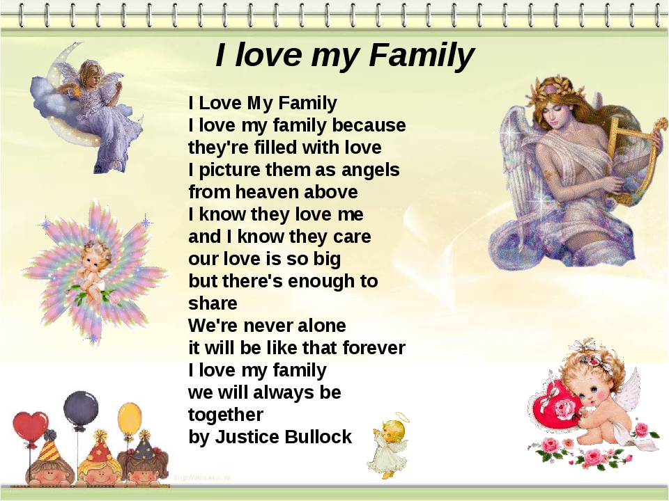 I love my Family I Love My Family I love my family because they're filled wi...