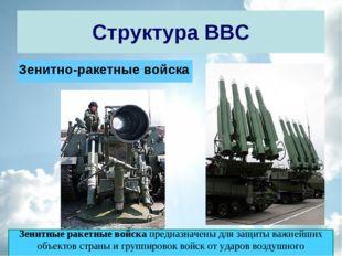 Структура ВВС Зенитно-ракетные войска Зенитные ракетные войскапредназначены