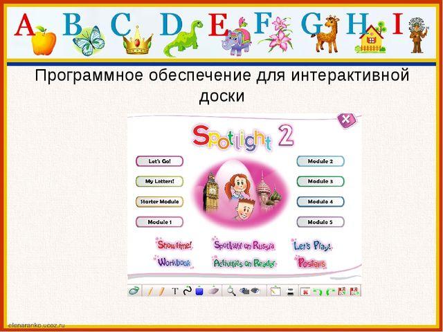 Программное обеспечение для интерактивной доски