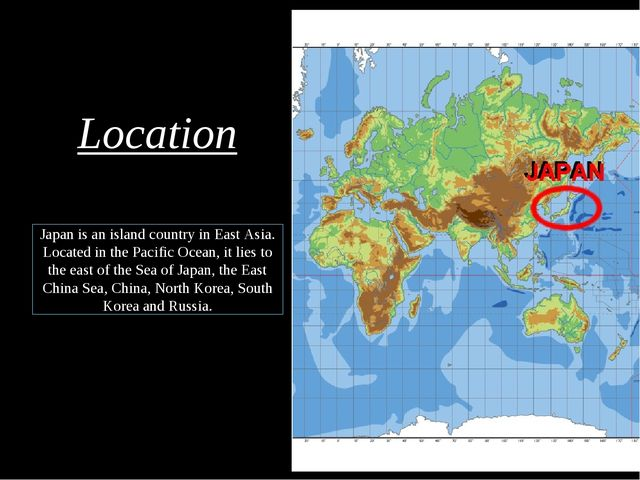 Japan is an island country in East Asia. Located in the Pacific Ocean, it li...