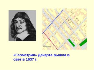 «Геометрия» Декарта вышла в свет в 1637 г.