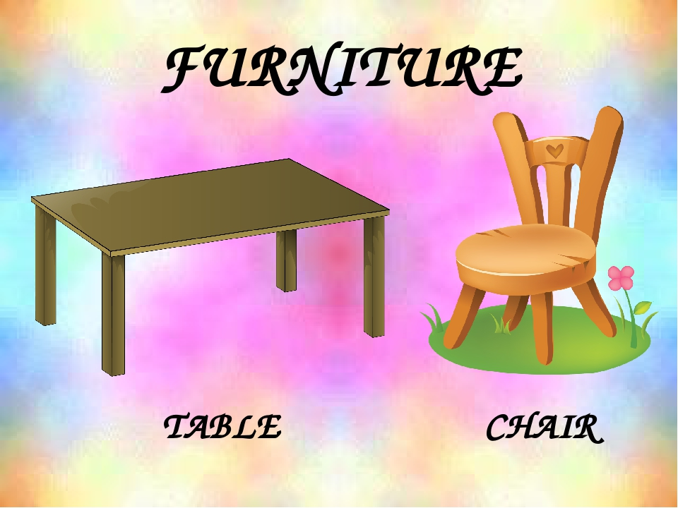 FURNITURE TABLE CHAIR