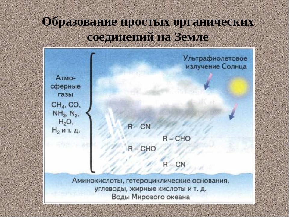 Образование простых органических соединений на Земле