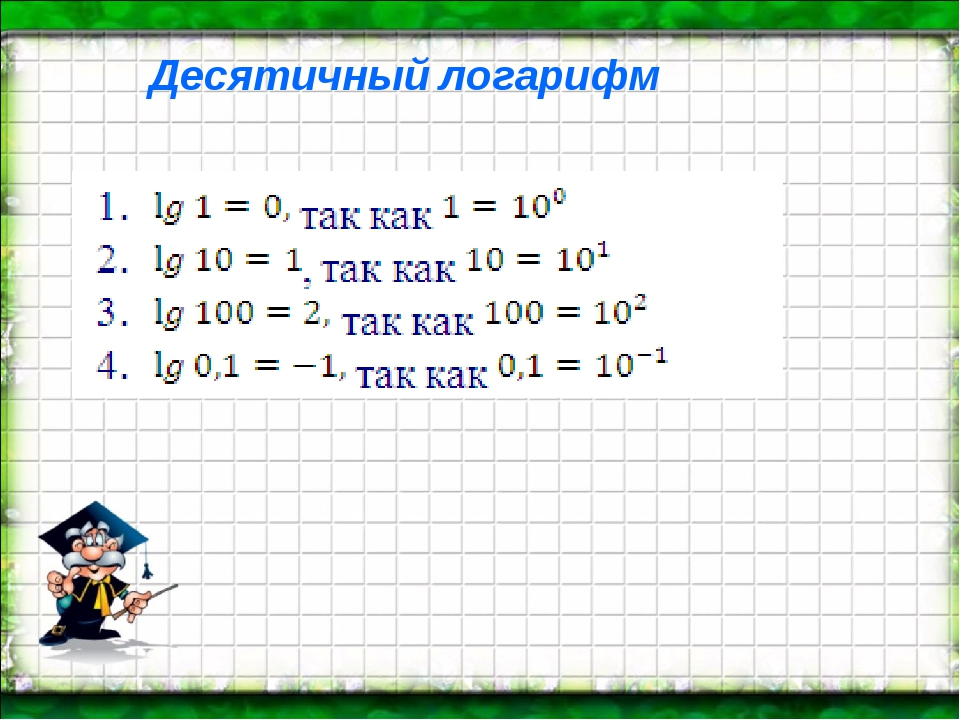 Десятичный логарифм