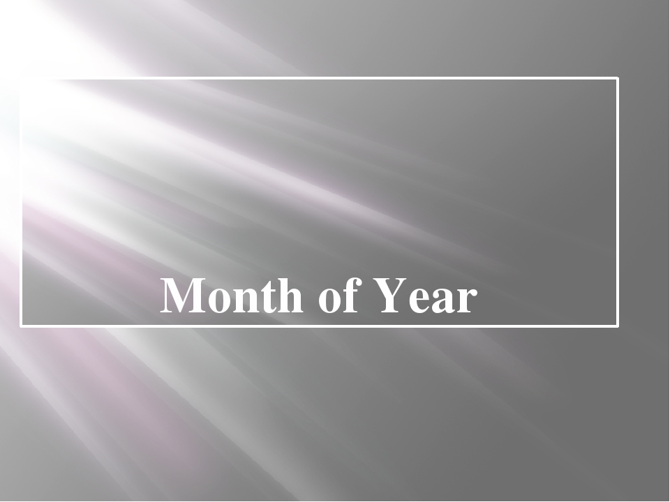 Month of Year