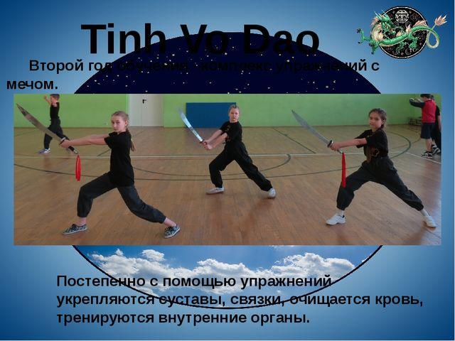 Tinh Vo Dao Второй год обучения –комплекс упражнений с мечом. Постепенно с по...