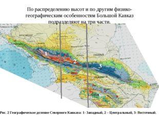 По распределению высот и по другим физико-географическим особенностям Большой