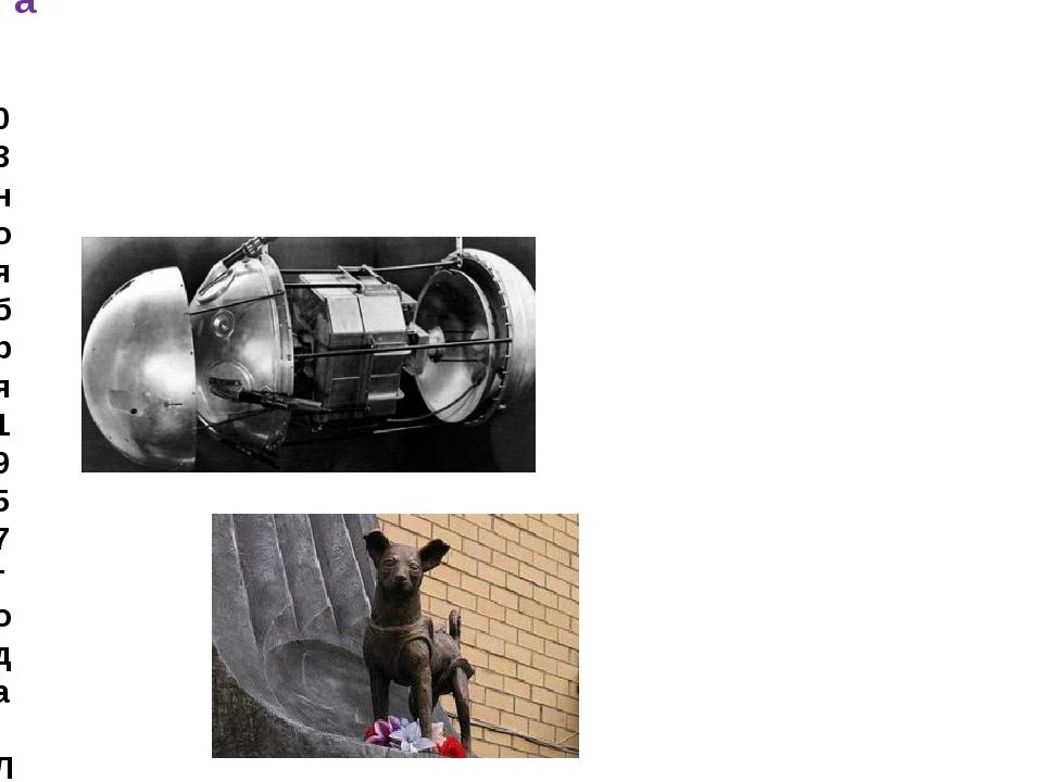 03 ноября 1957 года: Лайка – первое живое существо с Земли в космосе. Экспери...