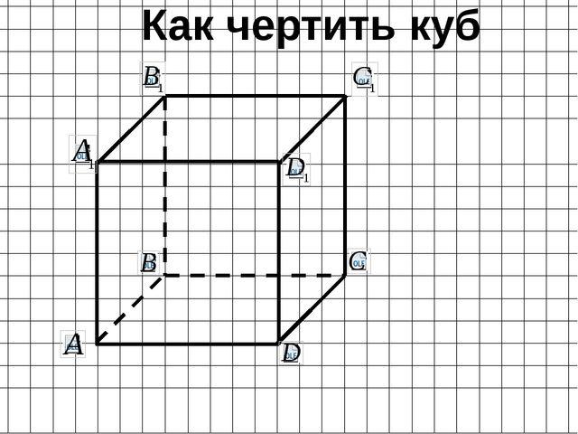 Как чертить куб