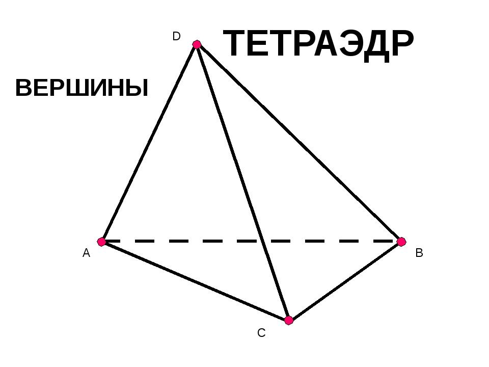 A B C D ТЕТРАЭДР ВЕРШИНЫ