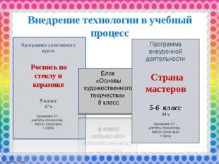 Программа элективного курса Роспись по стеклу и керамике 9 класс 17 ч Шумаков