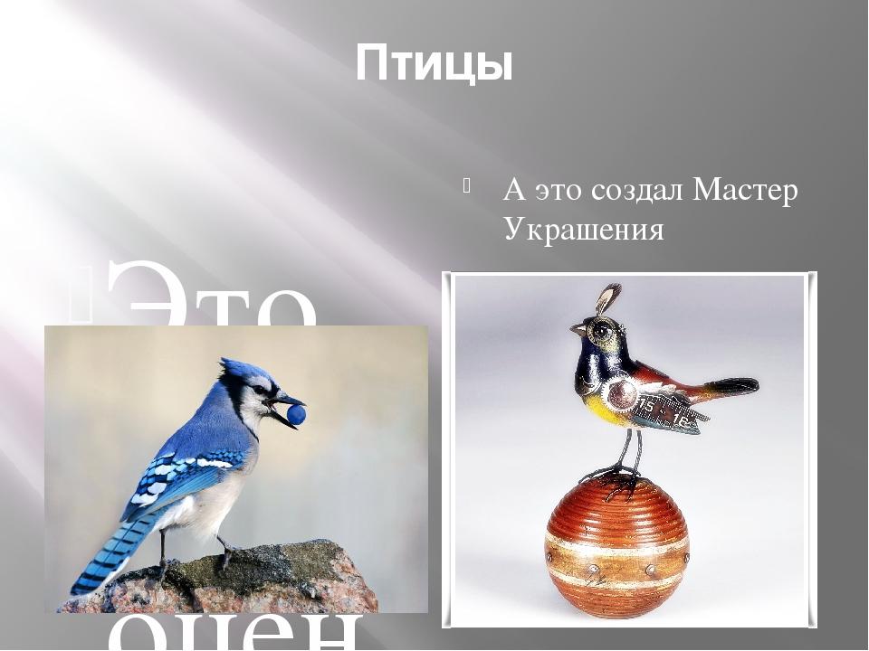 Птицы Это драгоценные украшения нашей планеты А это создал Мастер Украшения