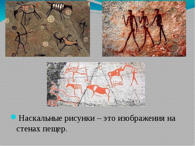 Наскальные рисунки – это изображения на стенах пещер.