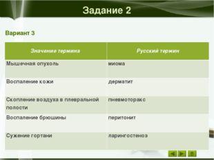 Задание 1 Вариант 4 Орган Греческое обозначение Болезнь Боль Воспаление Почк
