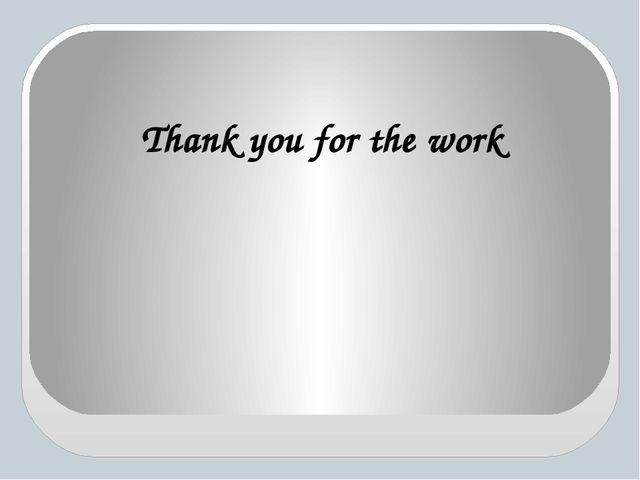 Thank you for the work