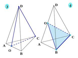 О А В С D 3 4 О А В С D Соединяем отрезками 2 точки, принадлежащие одной гра