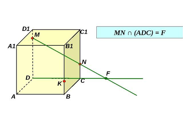 D1 D С1 С В1 В А1 А M N K MN ∩ (АDC) = F F