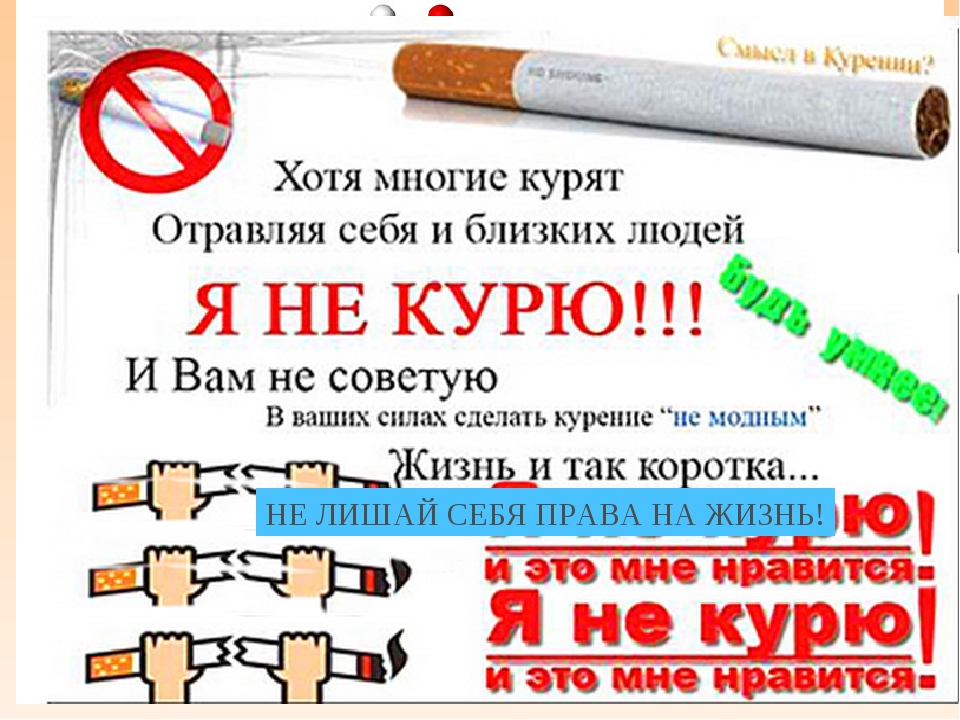 курение - 1 сигарета сокращает жизнь на 15 мин; - 1 пачка сигарет — на 5 ч; -...