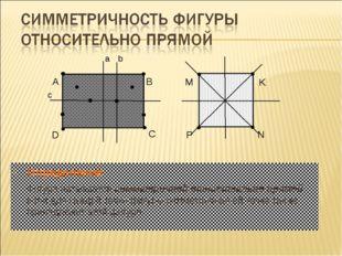 Определение Фигура называется симметричной относительно прямой, если для кажд