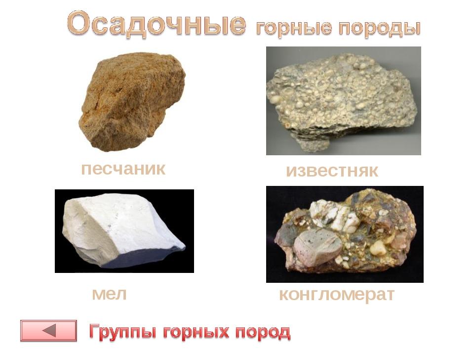песчаник мел конгломерат известняк