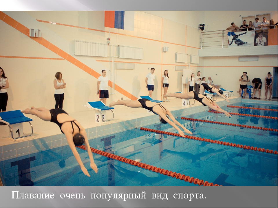 Плавание очень популярный вид спорта.