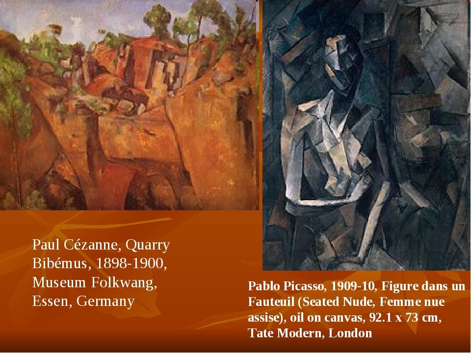 Paul Cézanne, Quarry Bibémus, 1898-1900, Museum Folkwang, Essen, Germany Pabl...