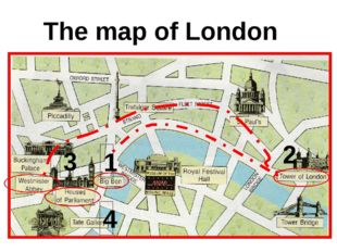 The map of London 1 2 3 4