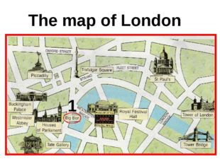 The map of London 1