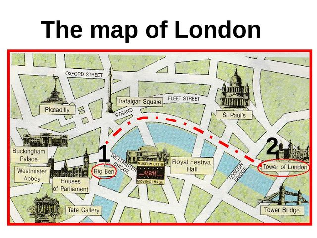 The map of London 1 2