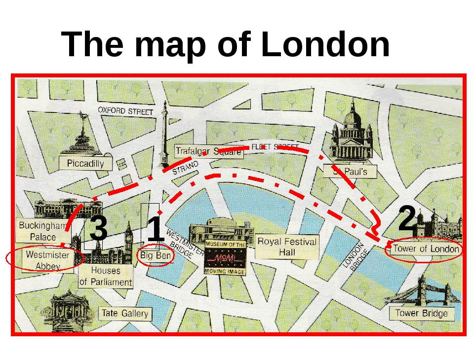 The map of London 1 2 3