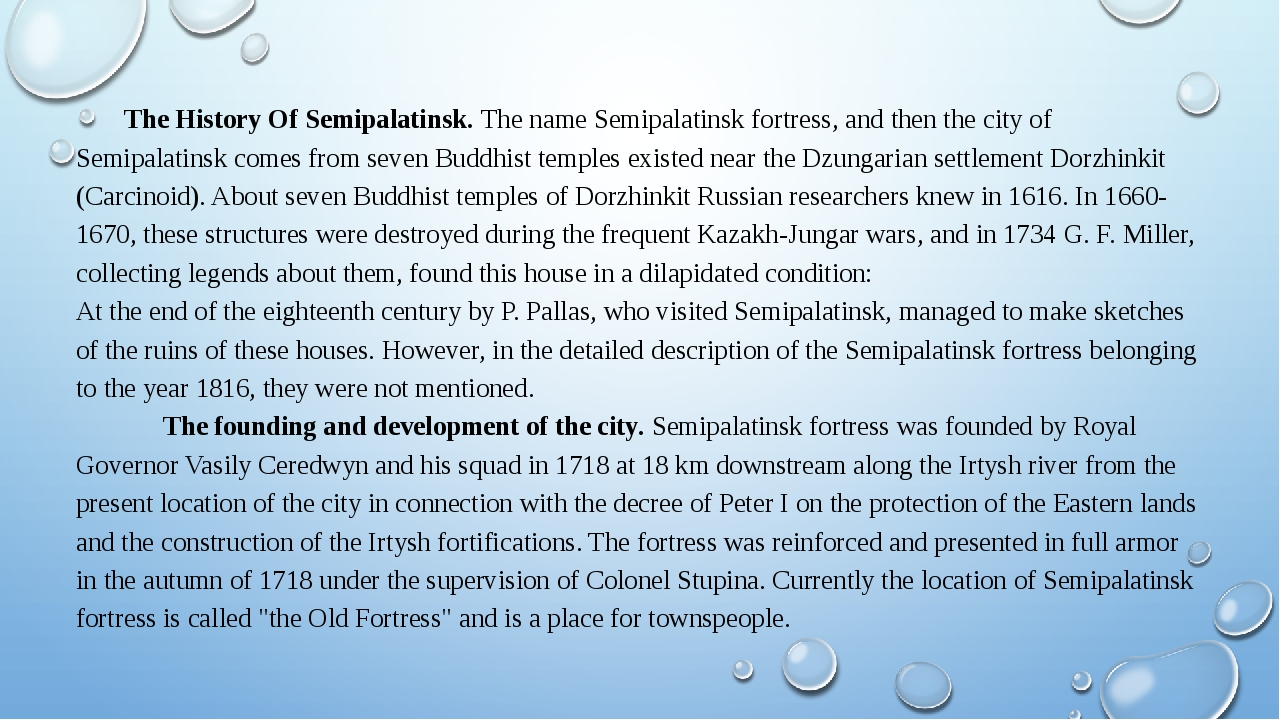 The History Of Semipalatinsk. The name Semipalatinsk fortress, and then the...