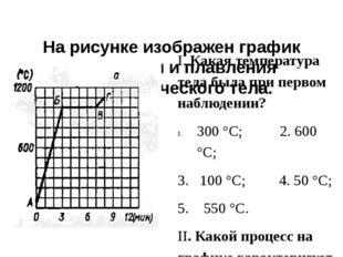 На рисунке изображен график нагревания и плавления кристаллического тела. I.