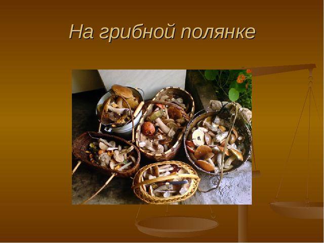 На грибной полянке