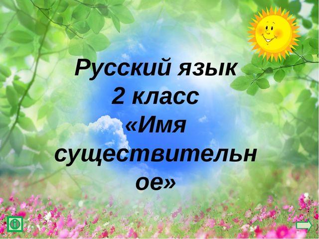 Русский язык 2 класс «Имя существительное»