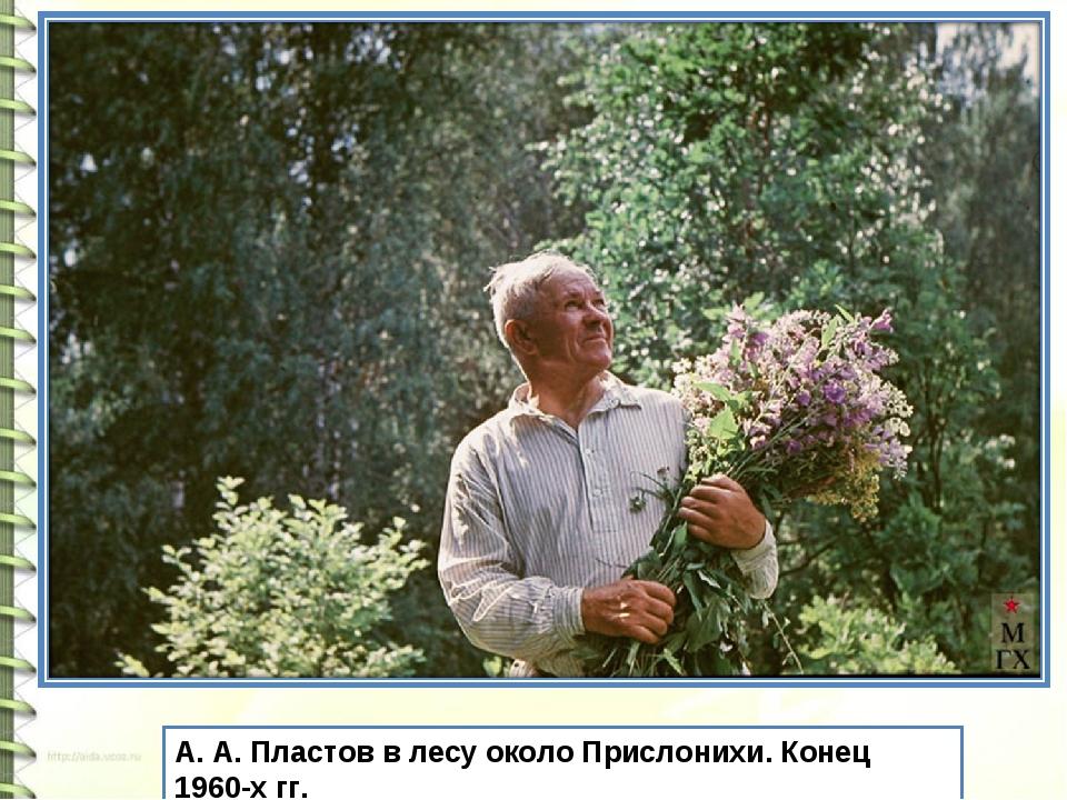 А. А. Пластов в лесу около Прислонихи. Конец 1960-х гг.