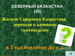 СЕВЕРНЫЙ КАЗАХСТАН (40) Жители Северного Казахстана перешли к кочевому скотов
