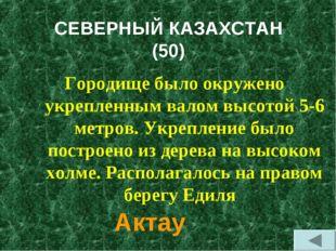 СЕВЕРНЫЙ КАЗАХСТАН (50) Городище было окружено укрепленным валом высотой 5-6