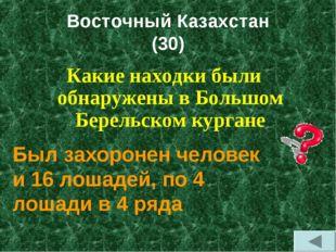 Восточный Казахстан (30) Какие находки были обнаружены в Большом Берельском к