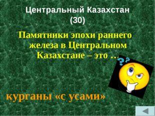 Центральный Казахстан (30) Памятники эпохи раннего железа в Центральном Казах