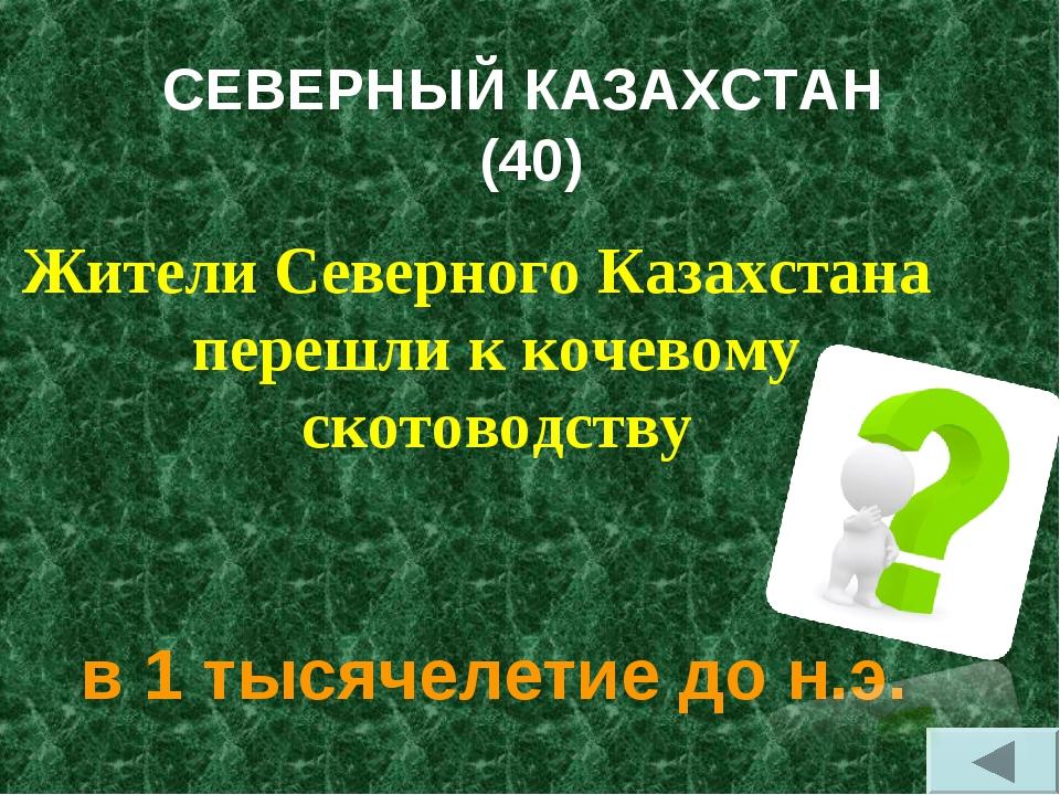 СЕВЕРНЫЙ КАЗАХСТАН (40) Жители Северного Казахстана перешли к кочевому скотов...