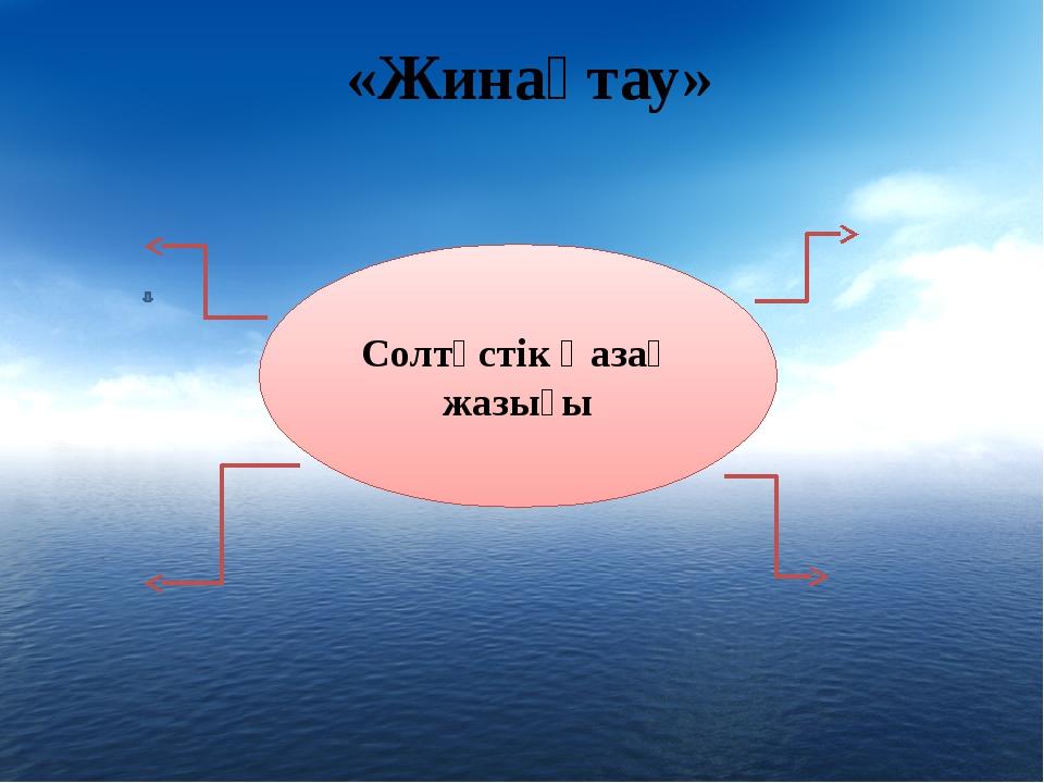 «Жинақтау» Солтүстік Қазақ жазығы