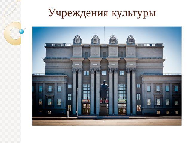 Учреждения культуры