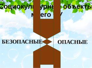 Социокультурные объекты моего ОУ БЕЗОПАСНЫЕ 1.) ПОЧТА РОССИИ