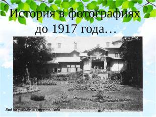 История в фотографиях до 1917 года… Вид на усадьбу со стороны сада