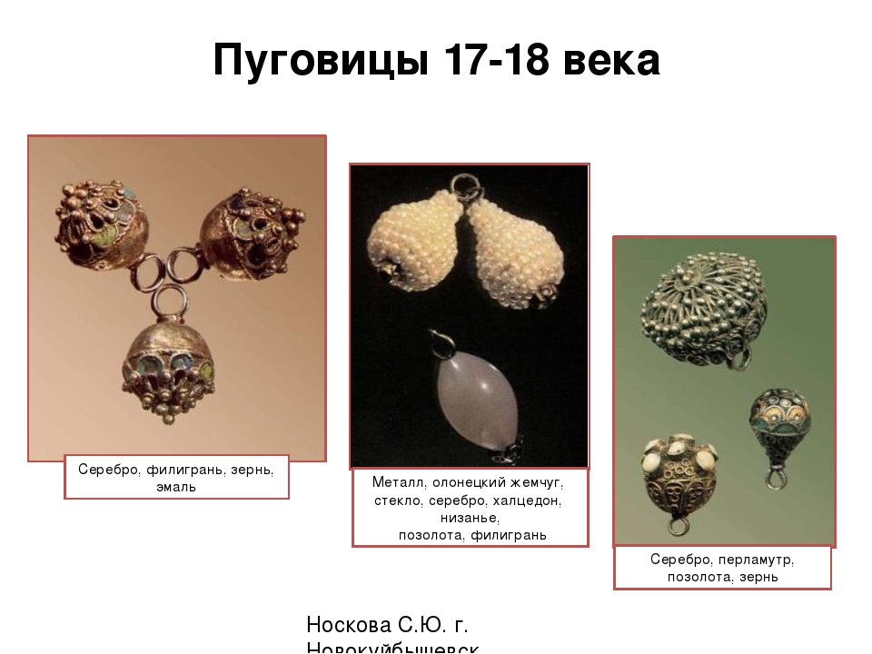 Пуговицы 17-18 века Носкова С.Ю. г. Новокуйбышевск Серебро, филигрань, зернь...