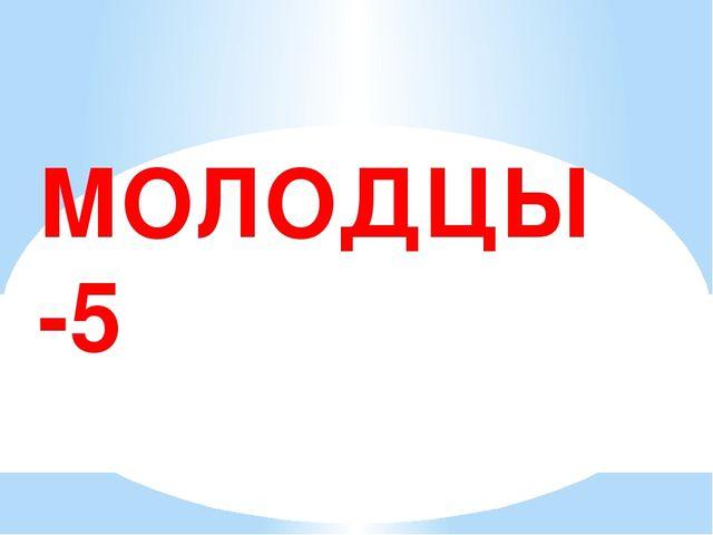 МОЛОДЦЫ -5