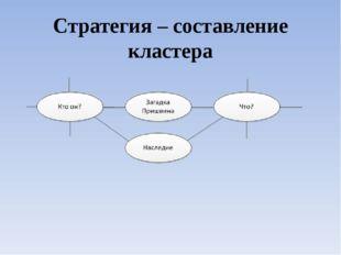 Стратегия – составление кластера
