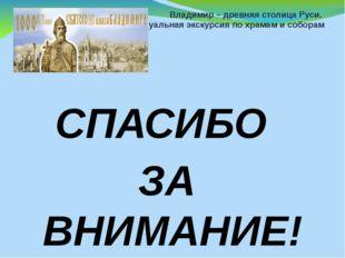 Владимир – древняя столица Руси. Виртуальная экскурсия по храмам и соборам СП